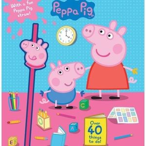 🐷🎀 Peppa Pig Activity Book + Keepsake Straw✨